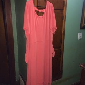 Woman Within Dresses - Peach Colored Dress